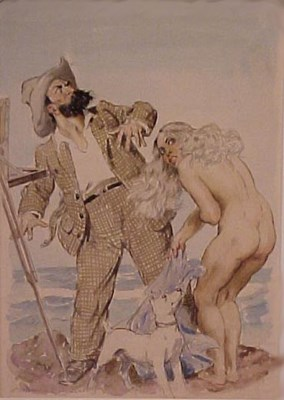City Collection Norman Lindsay - Bradley and Cora on the Beach